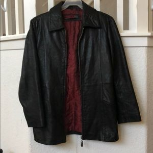 Women's Genuine Leather Jacket Nicole Miller XS